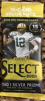 2020-21 Panini Select Football Cello Pack - New Sealed! 15 Card Value Pack!