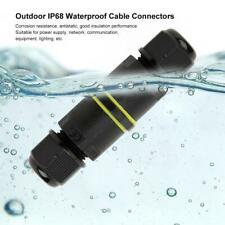 IP68 Waterproof 3Pin Junction Box Electrical Cable Wire Connector Accessory