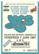 RARE / TICKET DE CONCERT - YES : JON ANDERSON - LIVE A MARSEILLE ( FRANCE ) 1991