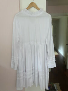 NW0T Cabbages & Roses White Dress Sz L