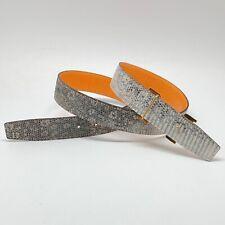 Handmade 32mm Genuine Duo Sided Lizard Skin belt strap Size 90 Free Shipping