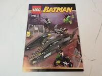 Instruction Manual ONLY for Lego 7787 Batman The Bat Tank Booklet Vintage