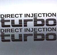 2x Direct Injection Turbo Stickers Toyota Landcruiser 4WD 4x4 Sticker Australian