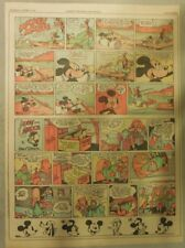 Mickey Mouse & Jose Carioca by Walt Disney from 10/24/1943 Tabloid Page Size