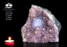 "7.75"" Brazilian Amethyst Geode Cluster Crystal Lamp #AL-517-12"