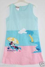 Girls Walt Disney World Kids Mini Mouse Pink Sleeveless Dress Age 7-8
