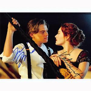 Leonardo DiCaprio & Kate Winslet (81660) Authentic Autographed 8x10 + COA