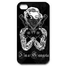 New I'm A Gangsta with My Double Gun On Your Apple iPhone 4/4s Case!