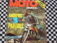 revue MOTO-JOURNAL N°59 1972 / YAMAHA250  DS 7 / TCHERNINE / TRIAL