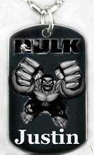 HULK - Dog tag Necklace/Key chain + FREE ENGRAVING