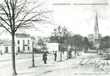 Réédition de carte postale ancienne Chateaubriant  place des terrasses