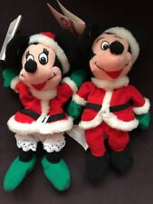 VTG Disney Store Mickey Mouse & Minnie Mouse   Plush Doll Set