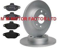 FIAT 500 1.2 8V (2008-) FRONT BRAKE DISCS AND PREMIUM BOSCH BRAKE PADS FULL SET