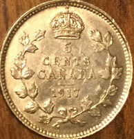 1917 CANADA SILVER 5 CENTS COIN - Fantastic example!
