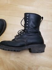 RED WING SHOES 699 FIRE FIGHTING LOGGER BOOTS LACE UP MADE IN USA 12D