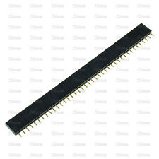 50Pcs 2.54mm 40 Pin Female Single Row Pin Header Strip New