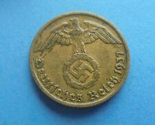 Germany, 10 Reichspfennig 1937 D, Good Condition.