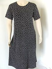 Travel Knit Dress, Long A-Line Short slv, NEW, stretchy wash&wear poly/span #032