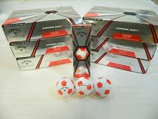 6 Dozen New Callaway Chrome Soft X Golf Balls Truvis Red 72 Balls - 6DZ