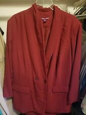 Jessica London 2-piece skirt suit set, Size 28, dark red