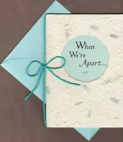 Blue Mountain Arts Greeting Card, WHEN WE'RE  APART...Missing You Card