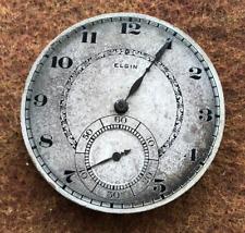 Vintage 1922 Elgin Grade 384 Pocket Watch Movement Parts/Repair 12s 17 Jewel Usa