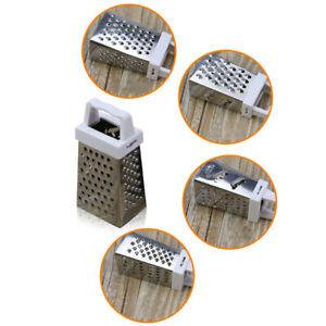 4-Sided mini Box Grater Vegetable Cheese Stainless Steel Slicer Shredder Kitchen
