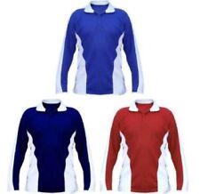 Magliette e maglie camicia polo blu a manica lunga per bambini dai 2 ai 16 anni