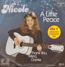 """Nicole A Little Paix (Un bißchen Paix) Anglais (Grand Prix 82) 7"""" Unique"""