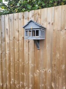 Wooden Bird Table Medium Fence /Wall fixed.DETERS LARGER BIRDS.Various colours.