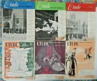 Lot of 6 Etude Magazines 1951 Issues