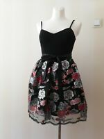 Macys Teeze Me Sequin Floral Party Cocktail Dress Size Small RRP $89 / £71