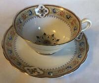 Vintage Grosvenor Bone China Jackson & Gosling England Tea Cup & Saucer Art Deco