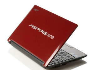 """Red Acer Aspire One D255E 10.1"""" / 2GB RAM / 250GB HDD / Win 10, Good Condition"""