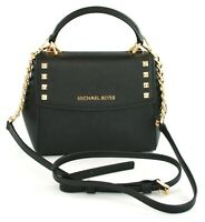 Michael Kors Cross Body Bag Karla Leather Small Handbag Black RRP £200