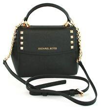 Michael Kors Cross Body Bag Karla Leather Small Handbag Black RRP £200