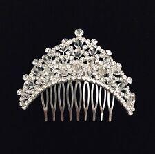 Arch Crystal Rhinestone Hair Comb - Prom Bridal Formal Hair Clip Headpiece