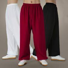 Women Men Linen Cotton Pants Drawstring Beach Yoga Pyjama Casual Loose Trousers