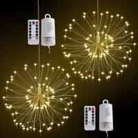 120LED Firework String Copper Wire Strip Lamp Xmas Wedding Decor LED Fairy Light