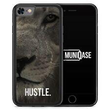 IPhone 8 GUSCIO IN SILICONE-Hustle. Leone motivazione-soggetto design animali verdetto di co
