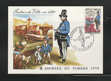 carte  1er jour   journée du timbre  71 Tournus   1970