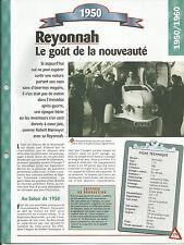 FICHE AUTOMOBILE DESCRIPTIVE - TECHNIQUE - REYONNAH 1950
