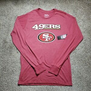 San Francisco 49ers Majestic Womens Size Medium Red Long Sleeve Shirt