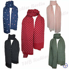 Gepunktete Damen-Schals aus Baumwollmischung