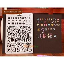 Hollow Number Ruler Template Stencil Drawing Stationery DIY Photo Album Craft