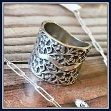 Silpada Sterling Silver Filigree Vine Cuff Ring Size 7.5 .925 R1741 Wide Band