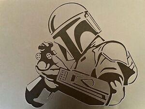 The Mandalorian A4 Stencil Template Wall Furniture  Star Wars Baby Yoda Decor