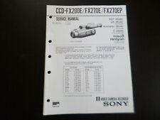 Original Service Manual Schaltplan Sony CCD-FX200E FX270E FX270EP