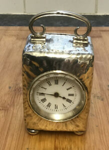 Solid Silver Miniature French Carriage Clock Working Order English Hallmarks