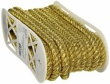 "Jumbo Metallic Twisted Cord 1/2"" Wide 12 Yards-Gold"